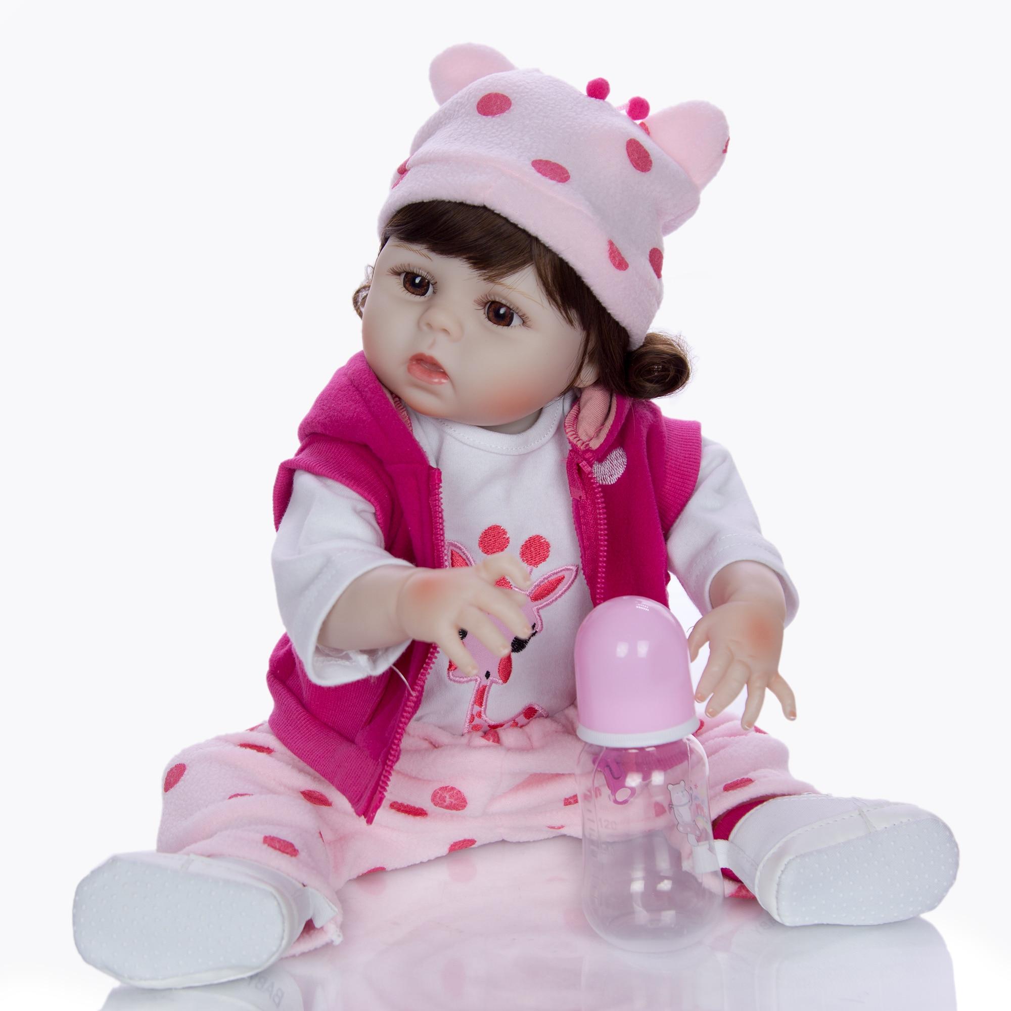 19 ''48 CM de silicona de cuerpo completo Reborn bebés muñeca baño juguete realista recién nacido princesa bebé muñeca Boneca Bebes Reborn niña chico juguete-in Muñecas from Juguetes y pasatiempos    2