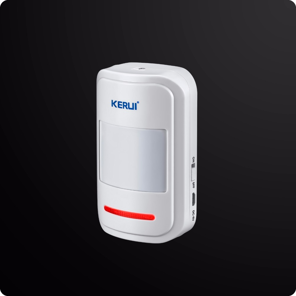 Kerui Rechargeable 5V USB 433MHz Wireless PIR Sensor Motion Detector For GSM PSTN  Security Alarm System Auto Dial Alarm Kit wireless vibration break breakage glass sensor detector 433mhz for alarm system