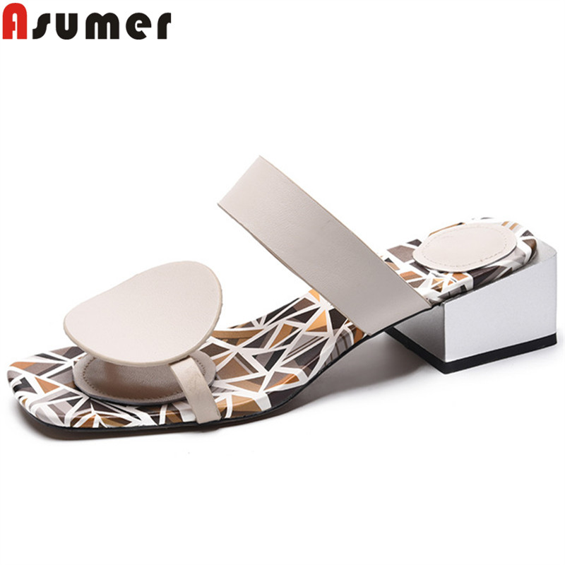 ASUMER 2019 new genuine leather shoes women casual slingback slip on summer sandals comfortable ladies prom shoes women sandals ASUMER 2019 new genuine leather shoes women casual slingback slip on summer sandals comfortable ladies prom shoes women sandals