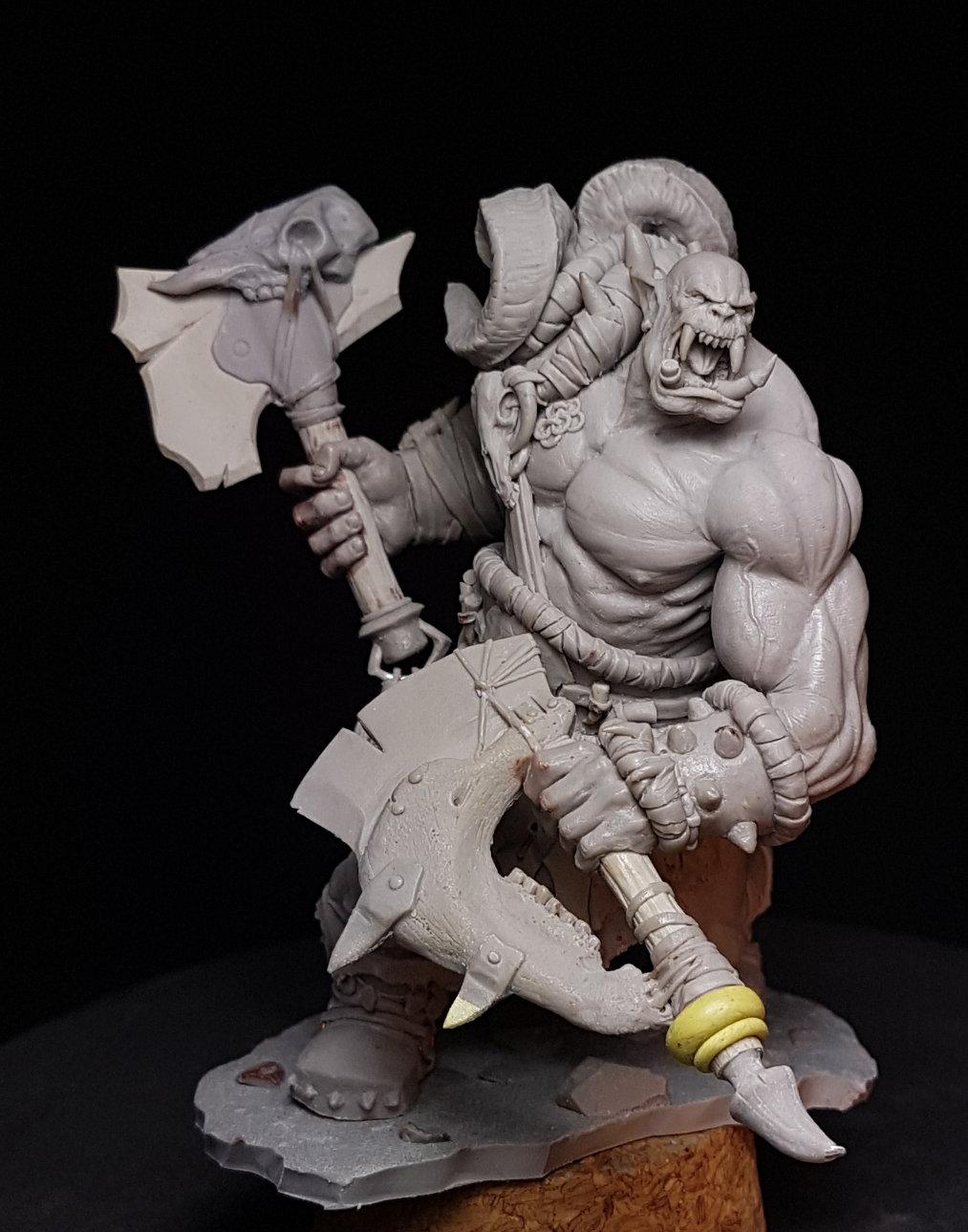 1//24 75 mm Resin Figure Kit Model Warrior Barbarian Unpainted Unassembled