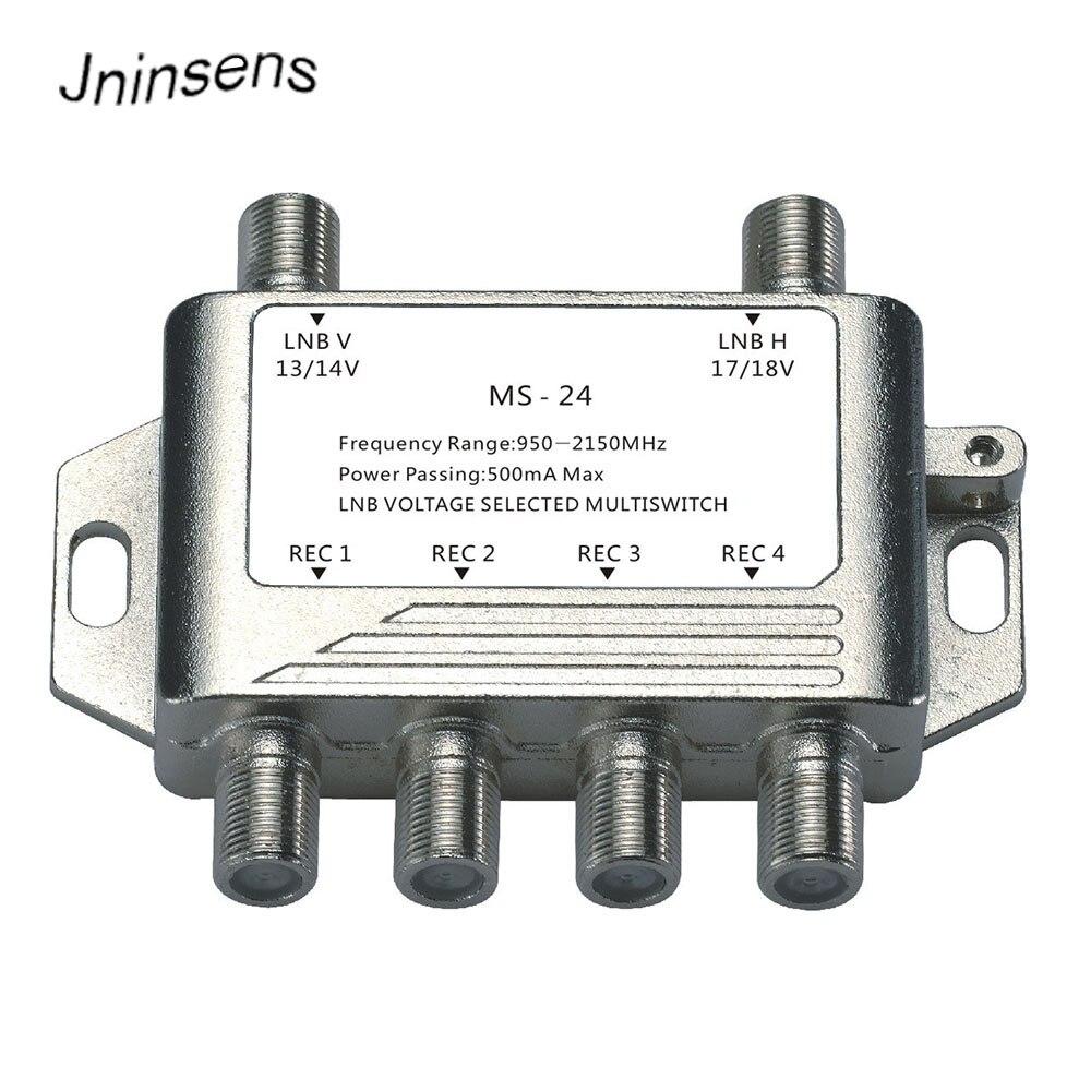 2x4 DiSEqC Satellite Autonome MultiSwitch FTA TV LNB Commutateur Cascade 2 dans 4 multiswitch 2 LNB 4 REC Pour DVB-S2 et DVB-T2