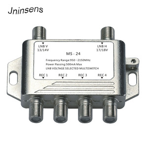 Image 1 - 2x4 DiSEqC Satellite Stand Alone MultiSwitch FTA TV LNB Switch Cascade 2 in 4 multiswitch 2 LNB 4 REC  For DVB S2 and DVB T2