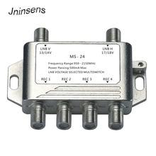 2x4 DiSEqC satélite de multiconmutadores TLC LNB TV interruptor Cascade 2 en 4 de multiconmutadores 2 LNB 4 REC para DVB S2 y DVB T2