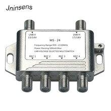 2x4 diseqc satélite autônomo multiswitch fta tv lnb switch cascata 2 em 4 multiswitch 2 lnb 4 rec para DVB S2 e DVB T2