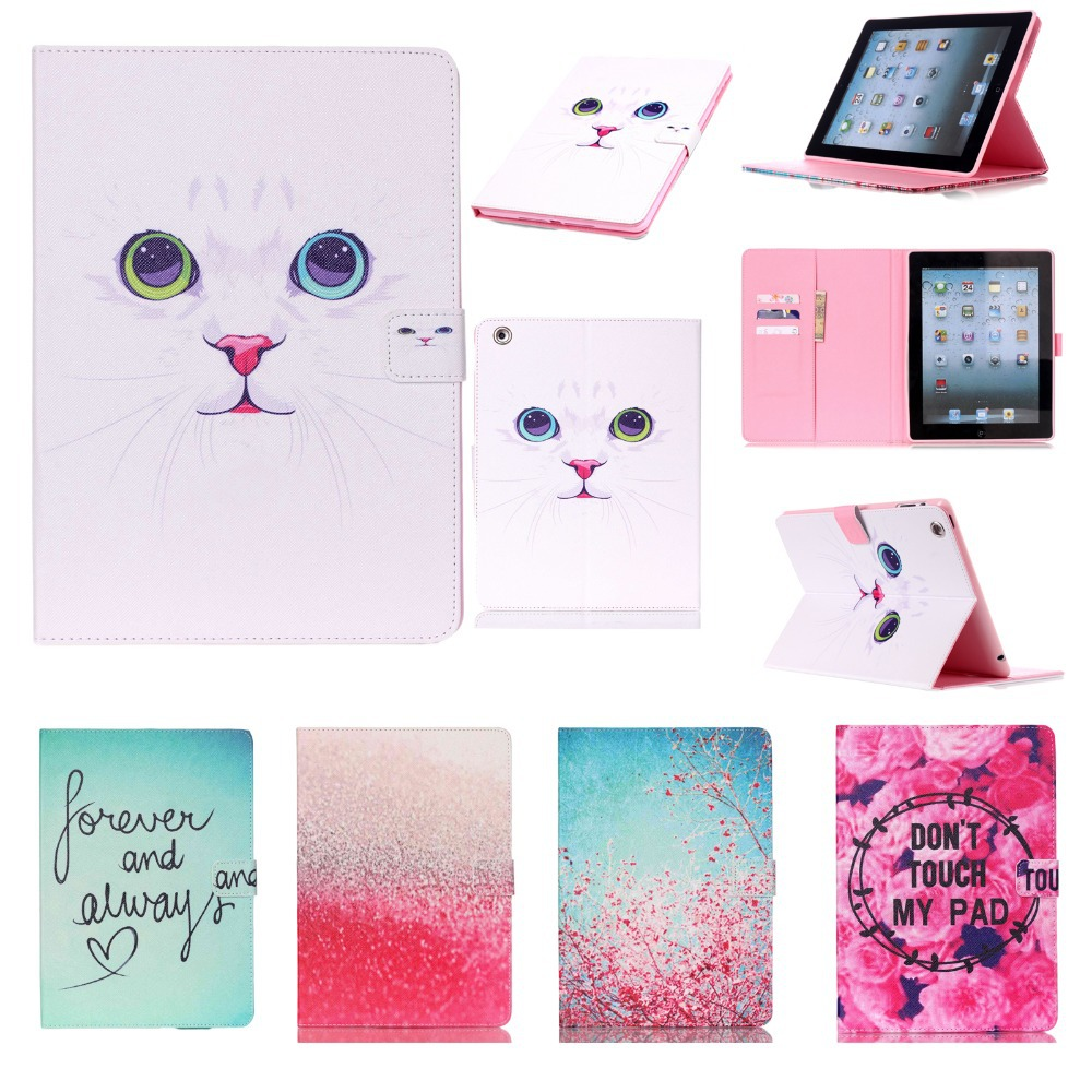 For Cover Apple iPad 2 iPad 3 iPad 4 Smart PU Leather Silicone Case Cover Stand Flip Kids Cover Screen Protector Film+Stylus Pen for apple ipad air 2 pu leather case luxury silk pattern stand smart cover