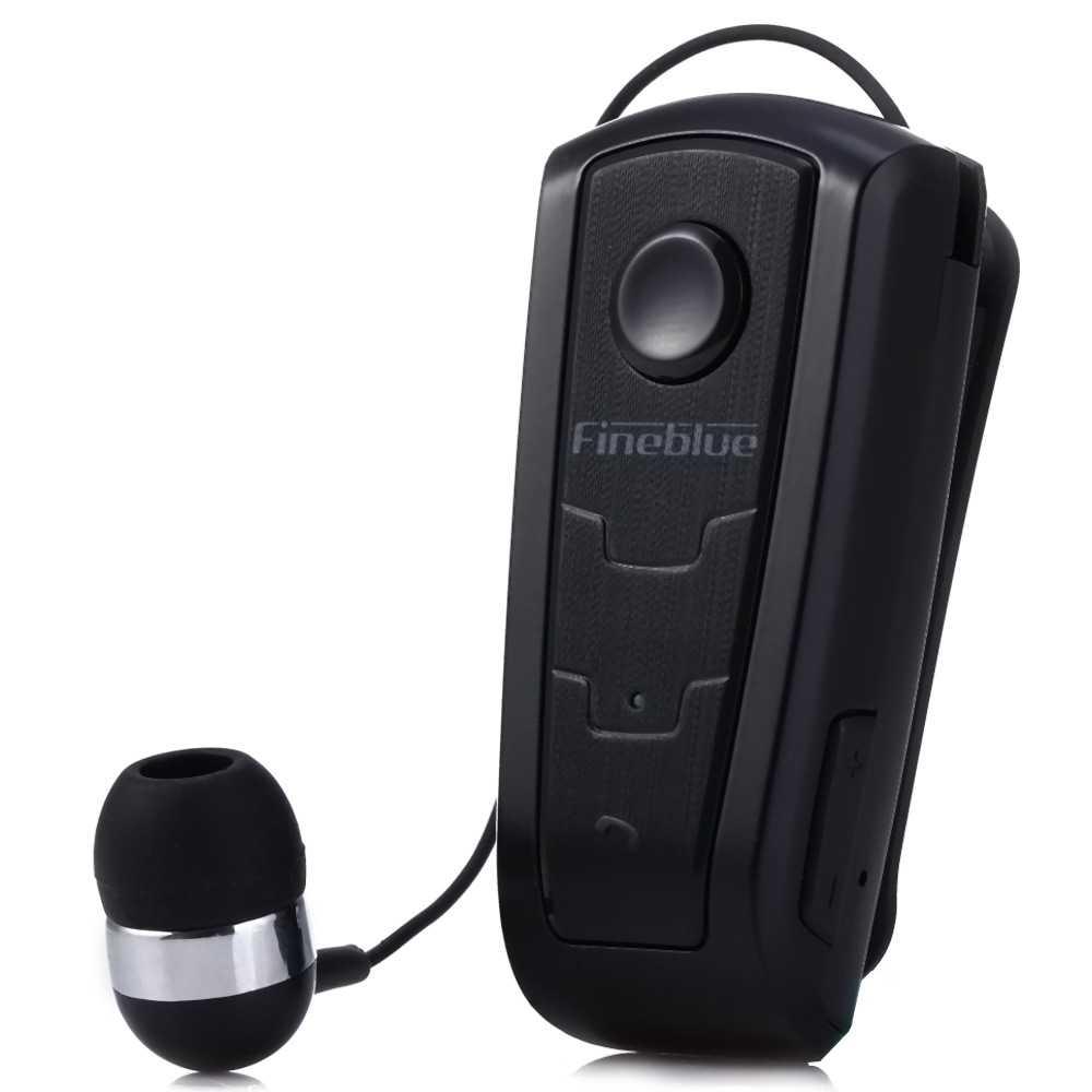 Настоящие Fineblue F910 Беспроводной наушники Bluetooth V4.0 гарнитура виброзвонок носить клип Hands-free наушники для iPhone для вождения