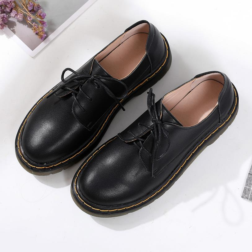 Oxford Shoes For Women Shoes Woman Cow Leather Ankle Female Casual Shoes Flats 2019 Spring Autumn