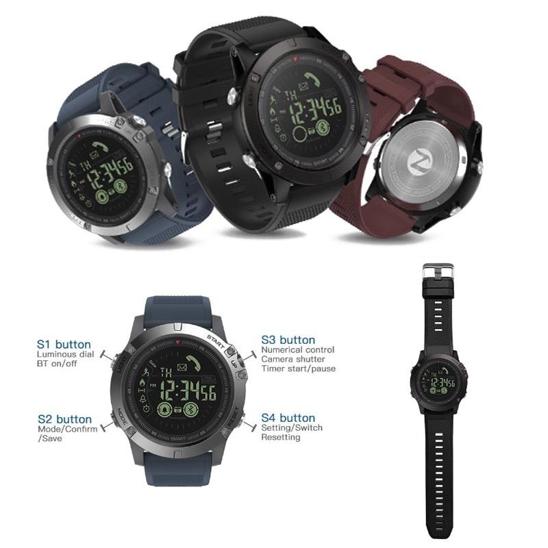 Military Grade Super Tough Smart Watch Waterproof Sports Talking Watch Tops, Shirts & T-shirts T1 Tact