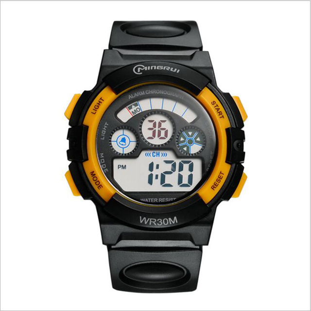 2017 Бренд часы детские Часы Студент Спортивной Моды Цифровые Часы Многофункциональный Водонепроницаемый Мальчик Открытый Relogio Enfant