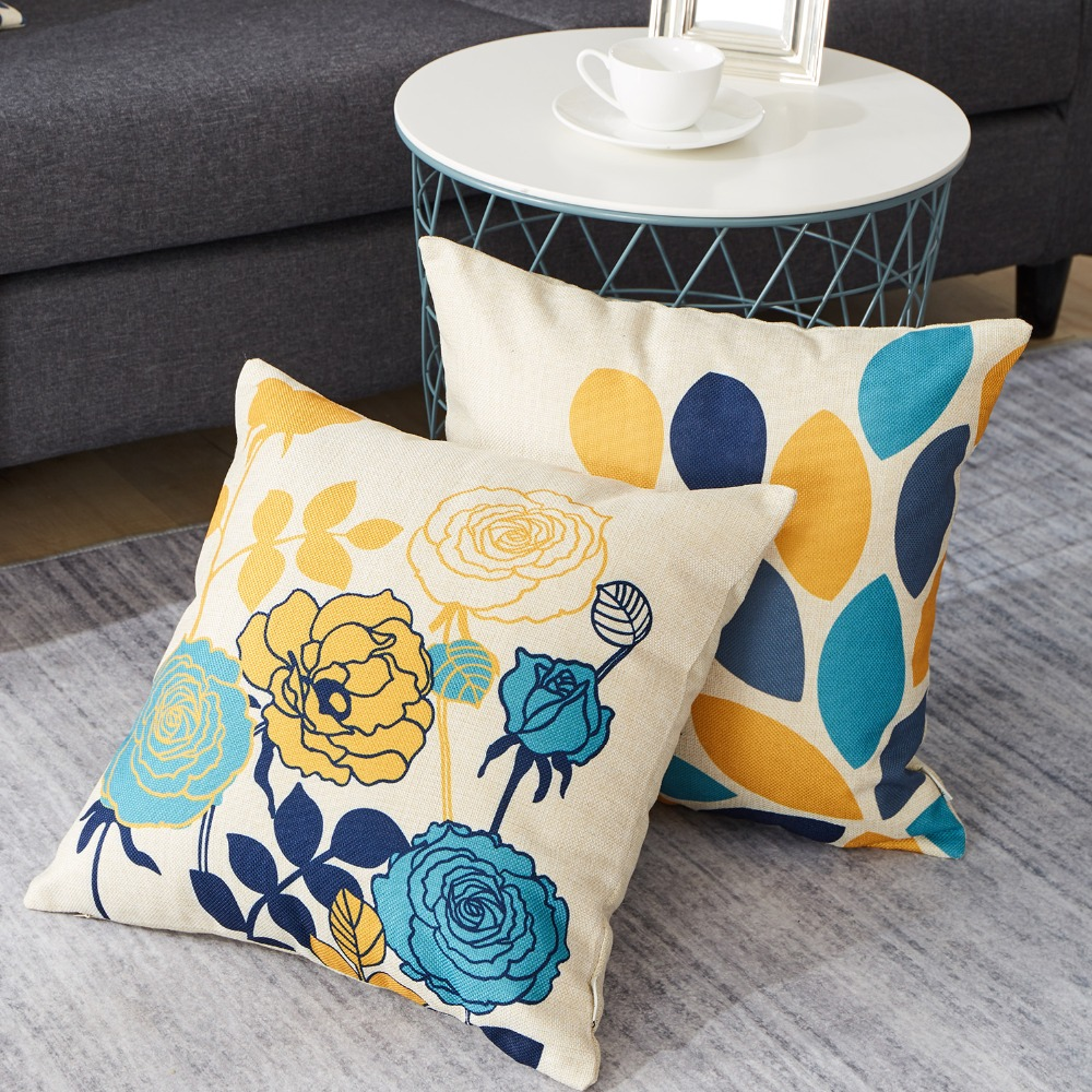 blue bird cushion covers