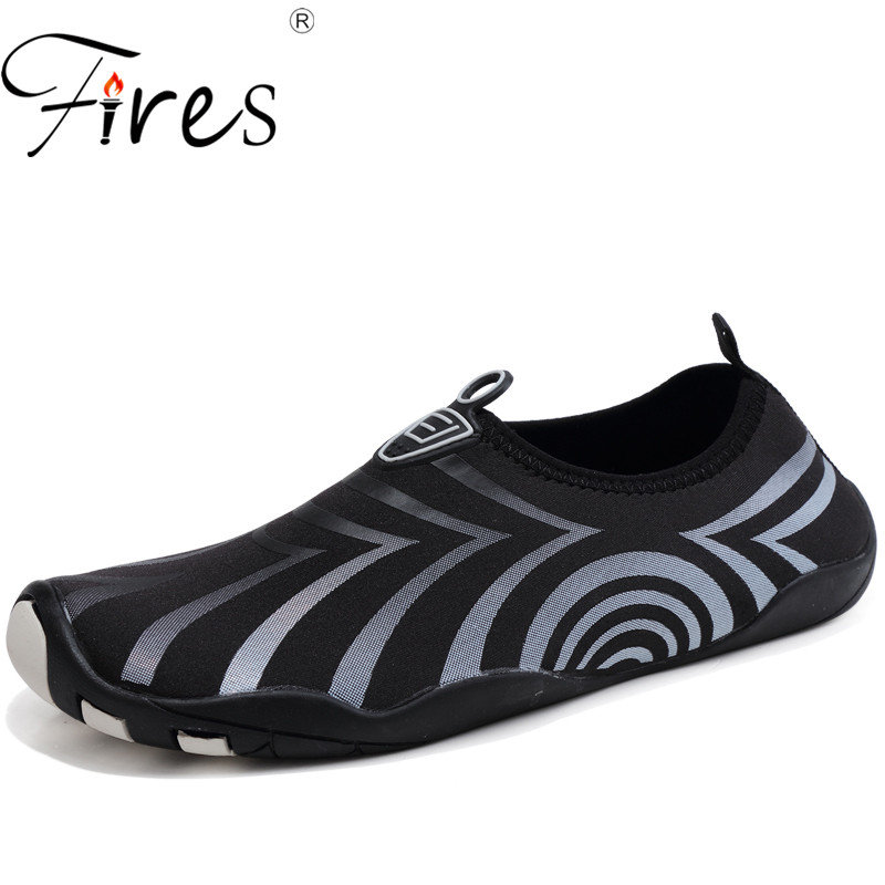 Fires Men Swimming Sneakers Comfortable Sport Shoes Oversize 39-46 Aqua Shoes Mans Summer Outdoor Walking Shoes Male Sneaker