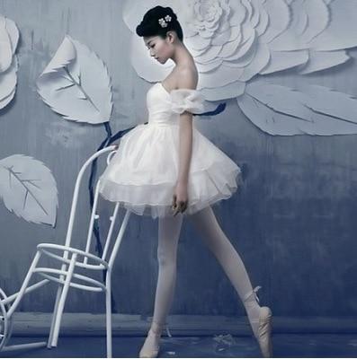 Felnőtt torna profi hattyú tó Tutu fehér balett ruha lányok balerina ruha leotard női teljesítmény dancewear