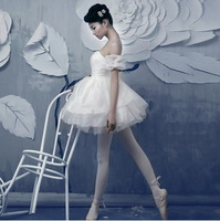 Adult Gymnastics Professional Swan Lake Tutu White Ballet Costume Girls Ballerina Dress Leotard Women Performance Dancewear