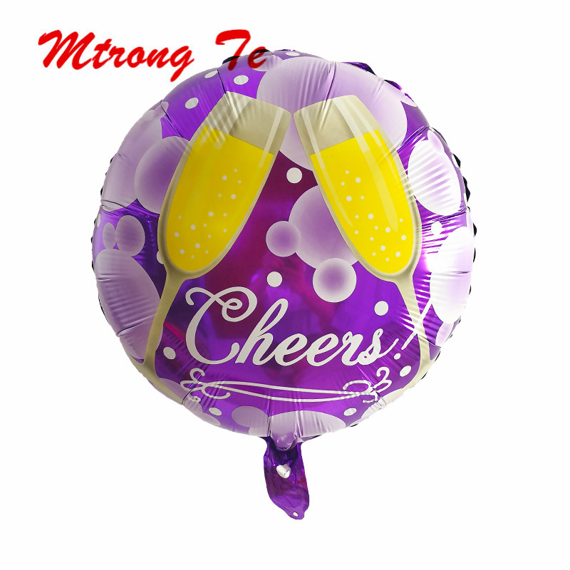 Ballons & Accessories Obedient 50pcs/lot 18inch Round Shaped Foil Helium Balloons Purple Print Chrees Wedding Birthday Party Baby Shower Decoration Kids Toys Event & Party