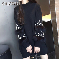CHICEVER Spring Knitting Pullovers Female Sweater For Women Top Pullovers Long Sleeve Sweaters Jumpers Clothes Fashion