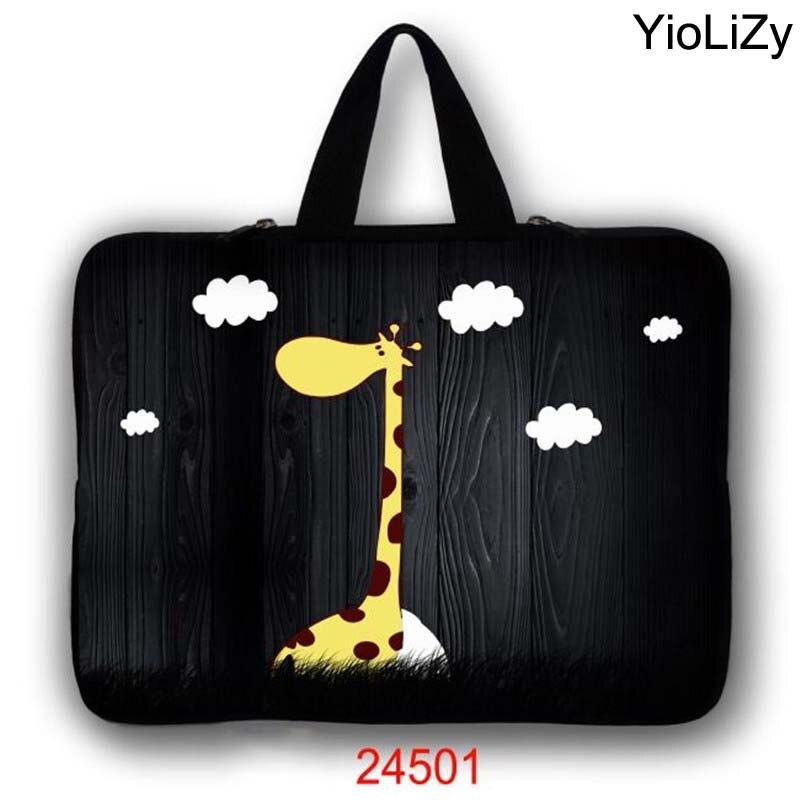 giraffe print Laptop Bag tablet protective case 7 9.7 12 13.3 14.1 15.4 15.6 17.3 inch briefcase Notebook sleeve cover LB-24501