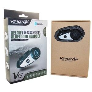Image 5 - Angielska wersja zestaw słuchawkowy Bluetooth do kasku motocykl Vimoto V6 wielofunkcyjne słuchawki Stereo do telefonów komórkowych i radiotelefonów GPS