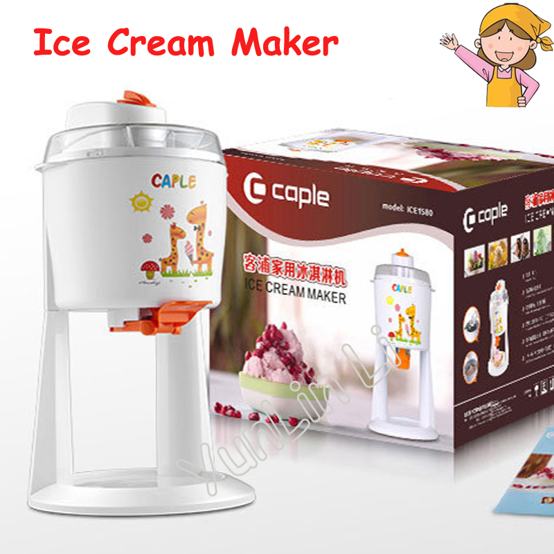 Household Ice Cream Maker Automatic Ice Cream Machine DIY Fruit Ice Cream Cone Maker ICE1580 mt 250 italiano pasta maker mold ice cream makers 220v 110v 250ml capacity ice cream makers fancy ice cream embossing machine