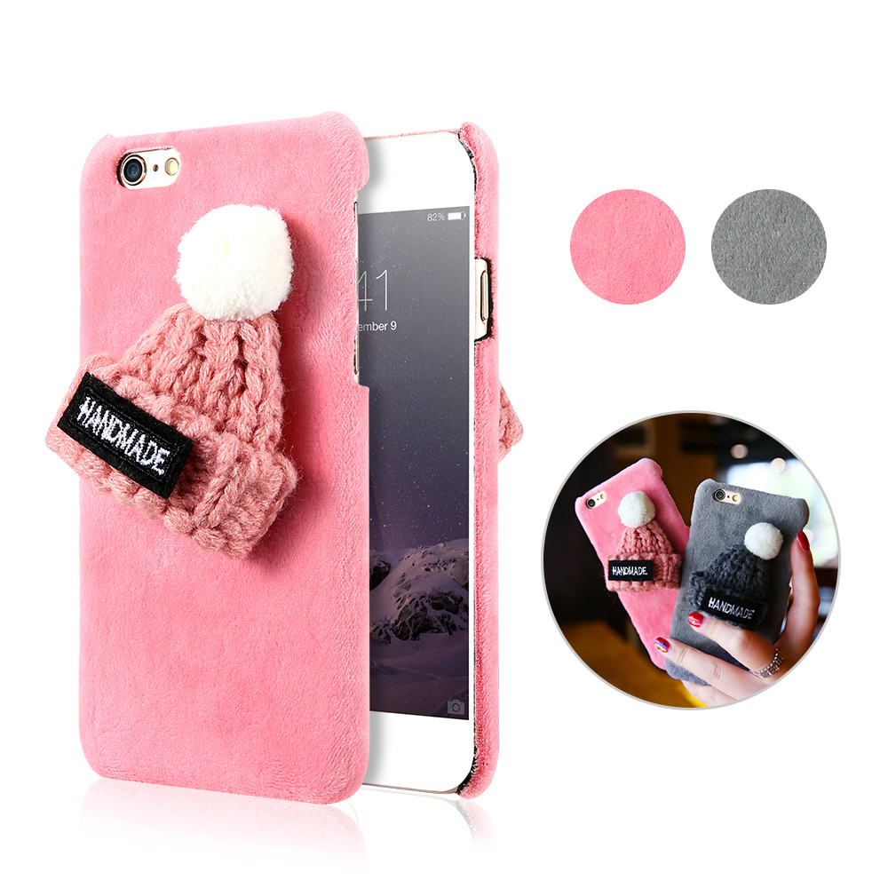 Aliexpress.com : Buy KISSCASE Girly Christmas Hat Fur Plush Case ...