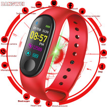 2019 Men women watches Smart Bracelet IP67 Waterproof Fitness Watch Blood Pressure Heart Rate Monitor Pedometer Call Reminder(China)