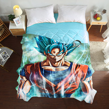 Summer Cool Tencel Single quilt cover Dragon Ball Z bedding set Air conditioner quilt cover Silky and comfortable Duvet Covers pug dog pattern filled air conditioner quilt for summer