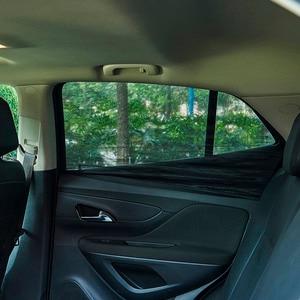 Image 3 - 2Pcs רכב חלון כיסוי שמשיה וילון UV הגנת מגן שמש צל רשת שמש יתושים אבק הגנה