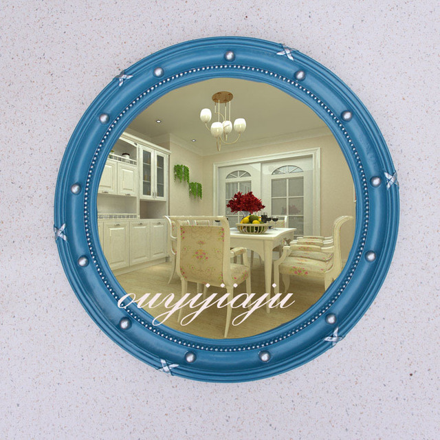 Large Decorative Cosmetic Antique Wall Bathroom Mirror With Frame Vintage Round Wedding Gift Living Room Home Decor