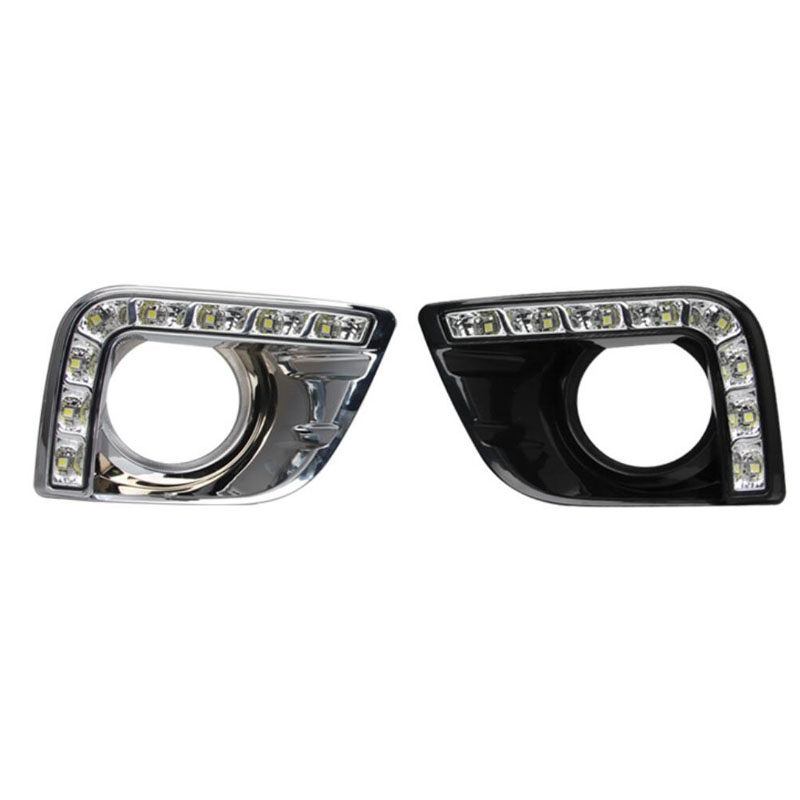 Dongzhen LED Car DRL Daytime Running Light Fog Lamp Cover for Toyota Prado FJ150 LC150 2010-2013 for Land Cruiser 2700/4000