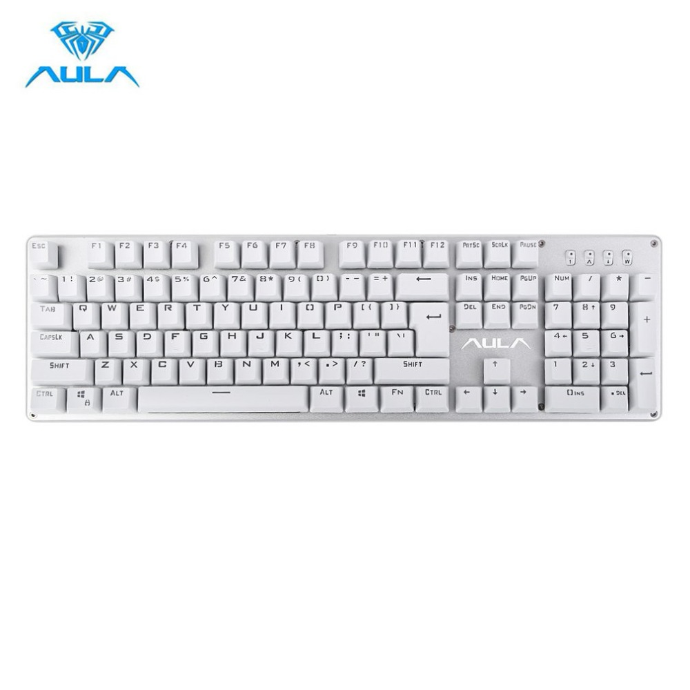 AULA Original Waterproof Gaming Keyboard 104 Keys LED Backlight Professional Wired USB Keyboard for Tablet PC HOT Dropshipping professional 29 keys programmable mechanical usb wired one hand gaming keyboard rgb led backlit backlight for pro gamer