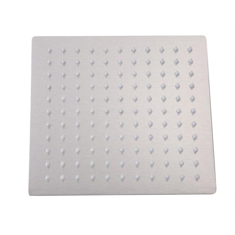8 inch Square Stainless Steel Ultra-thin Rainfall Shower Head Brush Nickel 20*20cm Rain Showerheads Bathroom Accessories