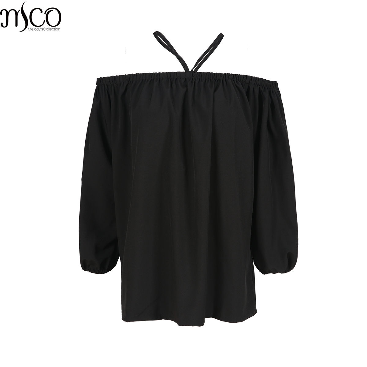 MCO 2017 Autumn Sexy Off Shoulder Plus Size Bardot Top Casual Oversized Halter Strap Shirt Basic Big Women Clothing 5xl 6xl 7xl