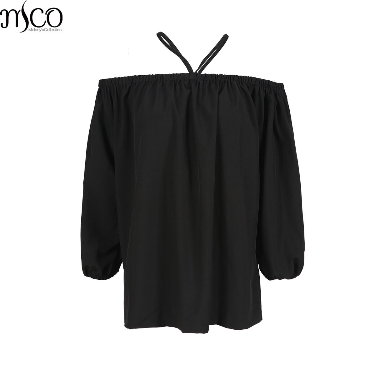 MCO 2017 Autumn Sexy Off Shoulder Plus Size Bardot Top Casual Oversized Halter Strap Shirt Basic Big Women Clothing 5xl 6xl 7xl