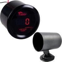 2 52mm Black Car Cover Universal Digital Red LED Water Temp Gauge Celsius Pod