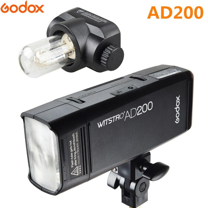 Godox AD200 TTL 2.4 г HSS 1/8000 s Вспышка Speedlite высокоскоростной фотографические для Canon Nikon sony 200 Вт литиевых Батарея pack