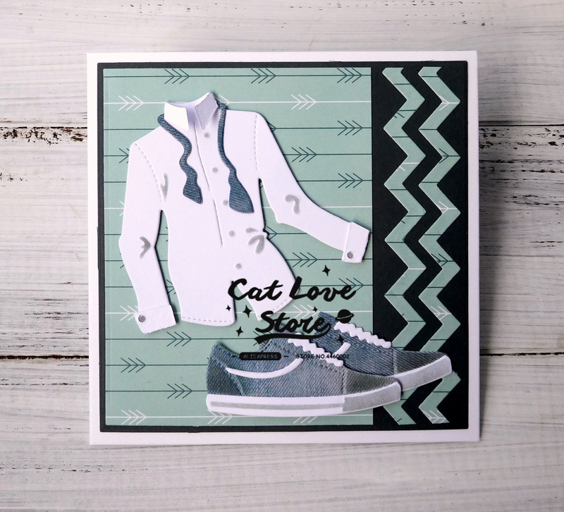 Blouse Shoes Cutting Dies Stencil Scrapbooking Paper Card Embossing DIY Crafts