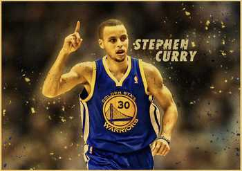 Basketball Star Stephen Curry Retro Poster Prints High Quality  Wall Stickers  For Living Room Home Decoration 3