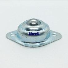 12 мм Шарикоподшипниковый ролик мини размер полностью углеродистая сталь Фланец Болт крепление CY-12A шарикопередающее устройство мебельное Колесико
