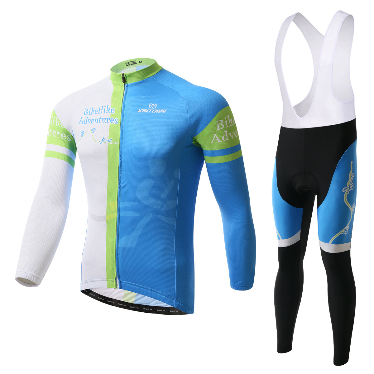 XINTOWN Bike Riding Jersey Bikini Long Sleeve Suits Set Cycling suit Fleece wind warm functional underwear