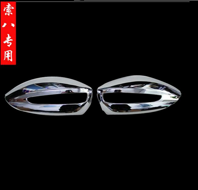 Car accessories side mirror cover rearview mirror cover trim for hyundai sonata 2011 2012 2013 2014 abs chrome 2pcs