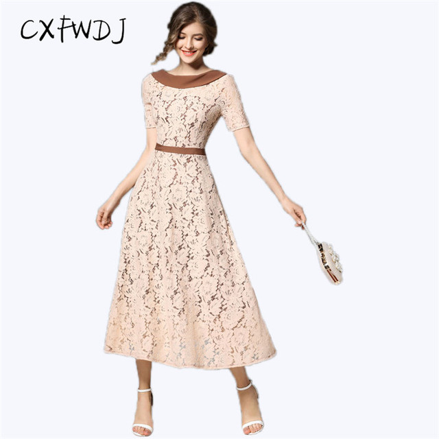 CXFWDJ Marca Para Mujer Elegante Chic Crochet Hollow Out Party Pinup ...