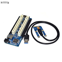 Newest MINI PCI e to Dual PCI Adapter mini PCIE Riser to PCI Slot for Capture Card Gold Tax Card Sound Cards Parallel Port Cards