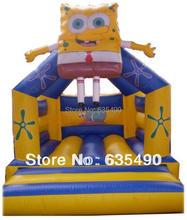 PVC5X4meter tarpaulin small inflatable font b bouncer b font with slide inflatable combo inflatable castle DHL