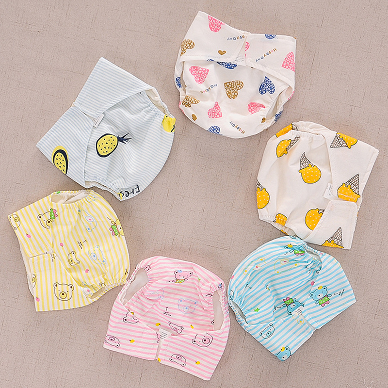 Baby Adjustable Swimsuit Diaper Kids Boy Girl Training Pants Washable Cotton Cloth Nappy Infant Cloth Diaper Waterproof Panties