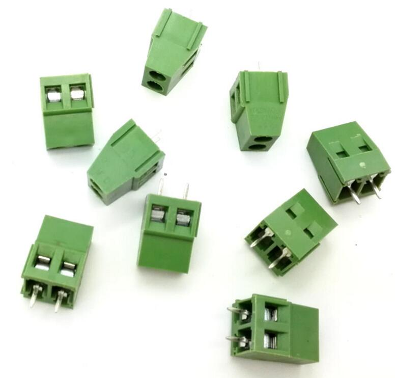 100pcs 2 Pin Screw Terminal Block Connector 5mm Pitch G 20 pcs 126 3p 3pin 5mm pitch screw terminal block 300v 10a