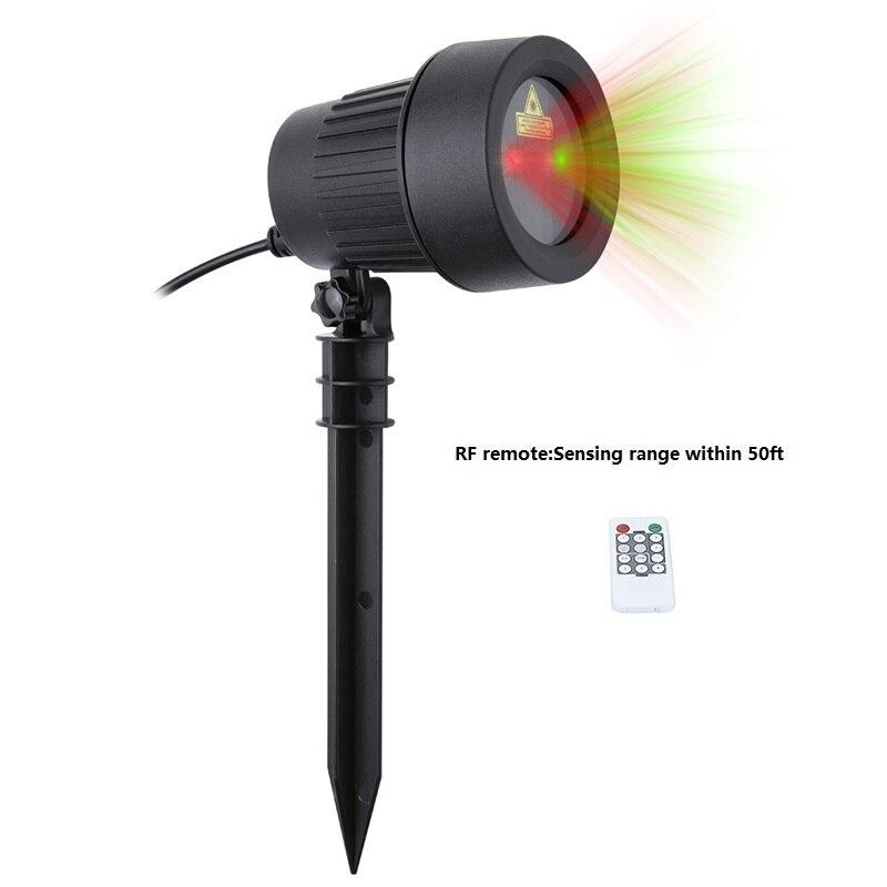 Weihnachten Laser Projektor Sterne Rot Grün Duschen leuchten Außenbereich Wasserdicht IP65 Garten Dekoration Statische Twinkle mit RF fernbedienung