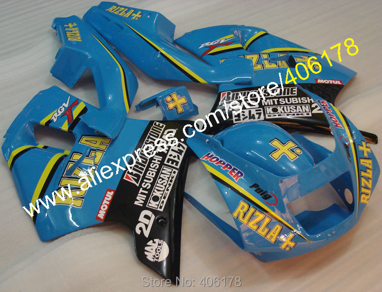 Hot Sales,Fairings Kit for Suzuki RGV250 VJ22 90-94 RGV 250 VJ22 1990 1991 1992 1993 1994 1995 ABS RIZLA Moto Fairings