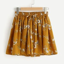 7f5bb62611ff2 Femmes imprimé Floral taille moyenne élastique lâche Shorts taille Ringer  Shorts taille élastique imprimer fitness shorts