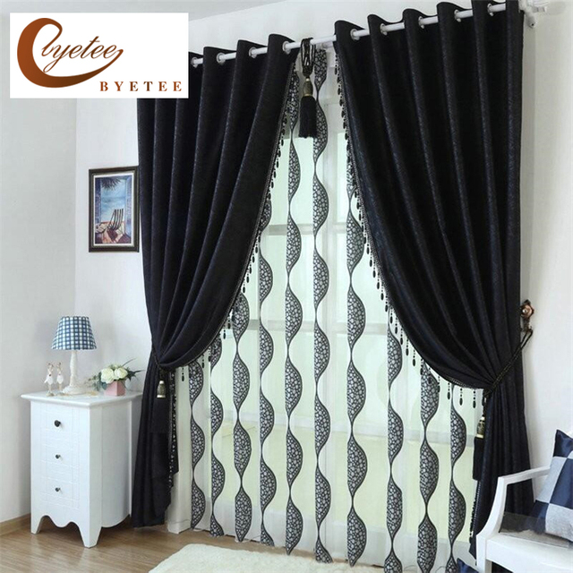 Great [byetee] Black Beauty Customized Blackout Curtains For Living Room High  Quality Fabric Modern Curtain