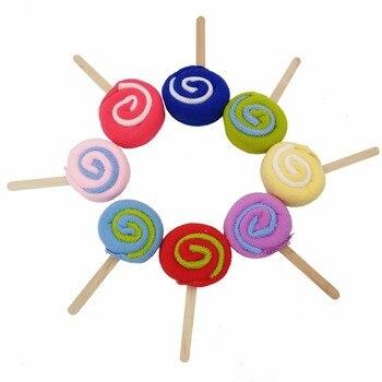 30pcs/lot Lollipop Towel Festive Birthday Party Favor Present Gift Home Decorative Accessories Supplies Gear Stuff Product 5