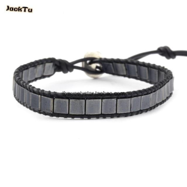 2016 grey square seed bead series healthy bracelet men